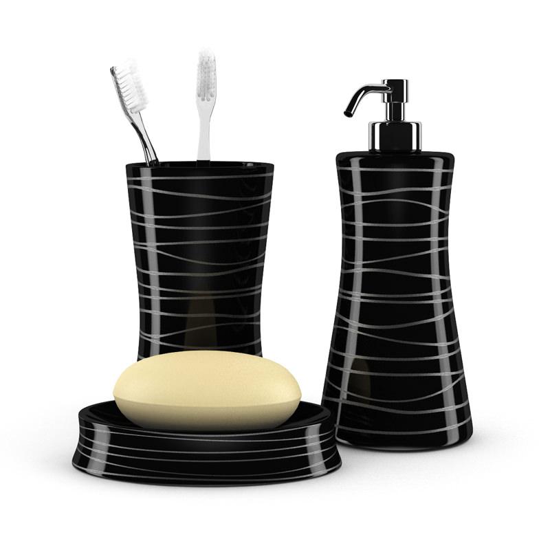 Black Bathroom Fixtures 3D Model max obj fbx c4d