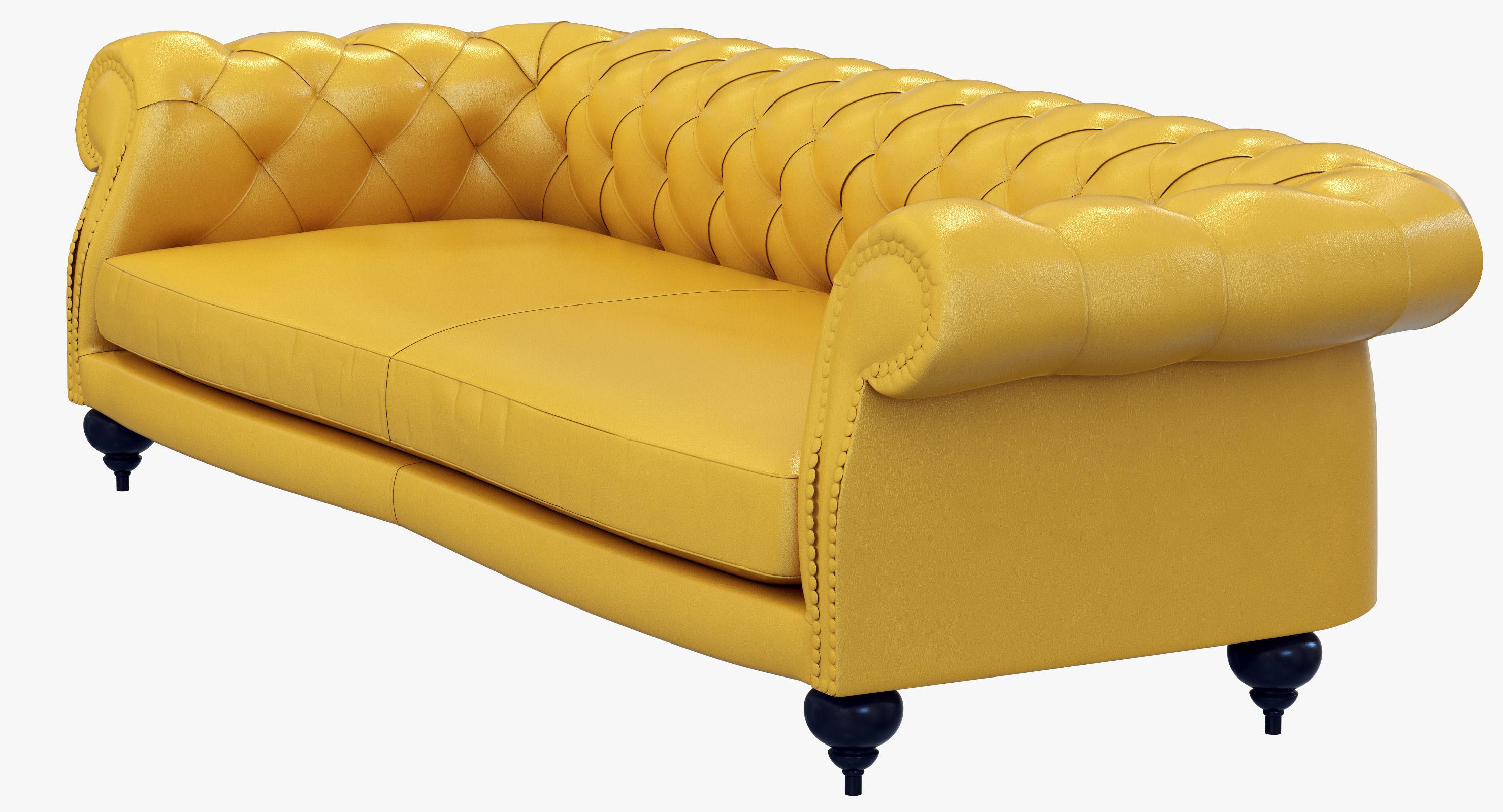 baxter sofa ashley levon set diana chester 3d model max cgtrader