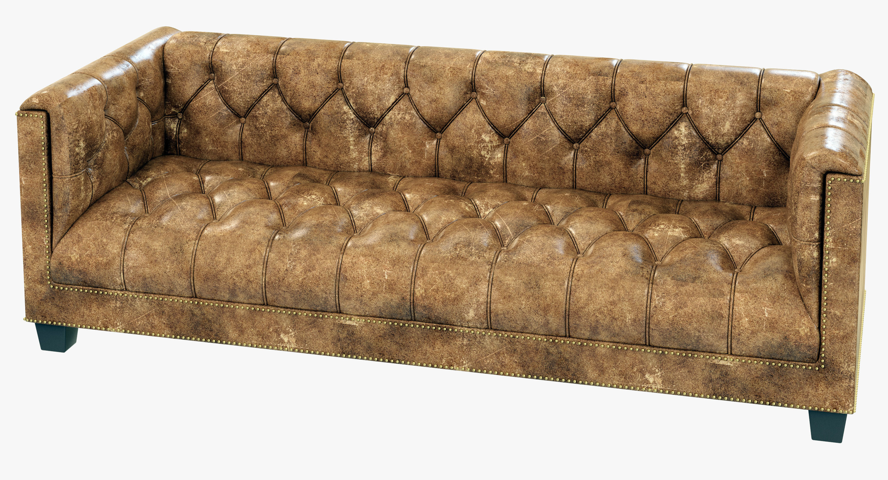 savoy leather sofa restoration hardware crypton 3d model max obj