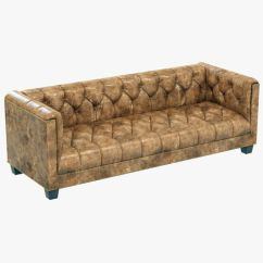 Savoy Leather Sofa Restoration Hardware Lane Bed 3d Model