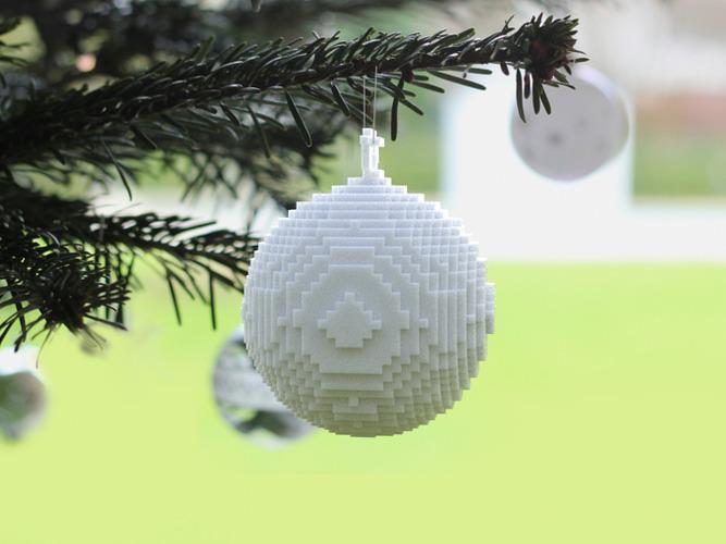 3D printed pixellated ornament 3D Model 3D printable obj