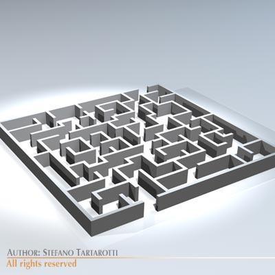 Labyrinth 3d Model Obj 3ds C4d Dxf Cgtrader Com