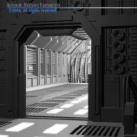 3D model Science fiction door | CGTrader