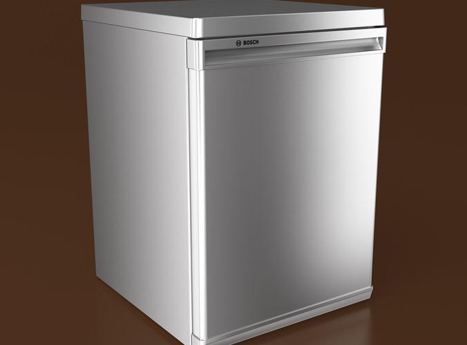 bosch kitchen set rustic furniture compact refrigerator 3d model .max .obj .fbx ...