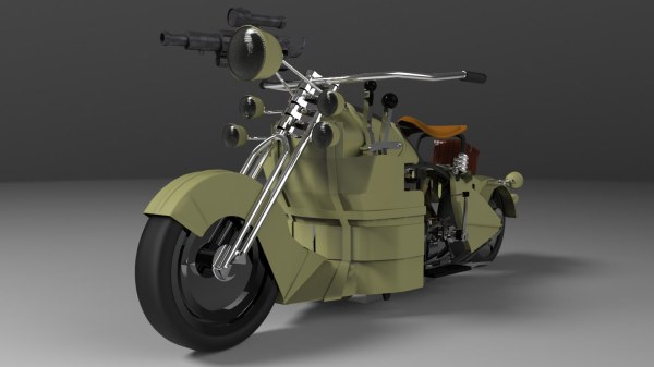 Steampunk Motorcycle 3d Models