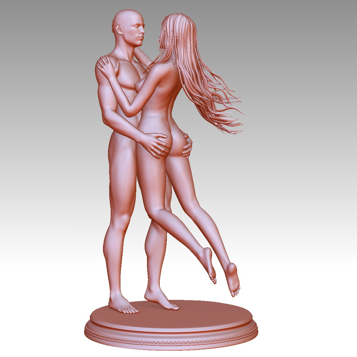 3D Printable Nude Couple 3D Model 3D printable stl