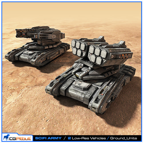 3d Model Scifi Army Ground Units 02 Vr Ar Low Poly Max