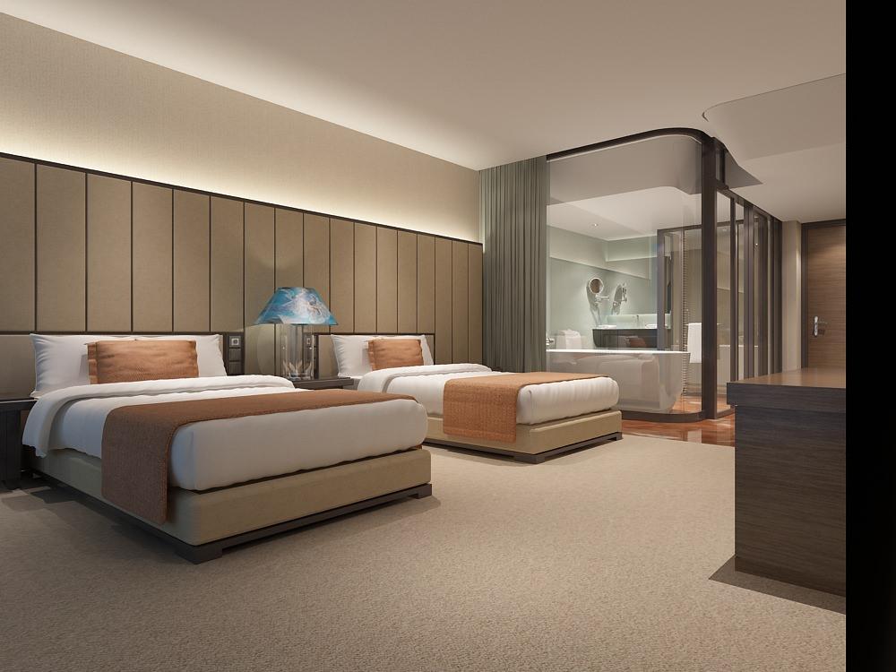 Modern Hotel Room 3D Model MAX CGTradercom