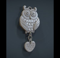 Owl Pendant for the loved ones 3D Model 3D printable .obj ...