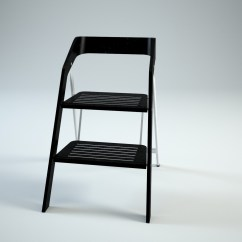 Step 2 Chair Great Office Chairs Vintage Usit Stepladder Version 3d Model Max