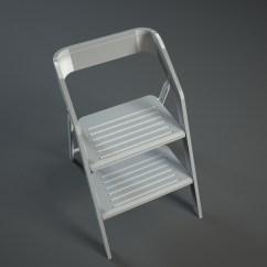 Step 2 Chair Ikea Junior Desk Vintage Usit Stepladder Version 3d Model Max