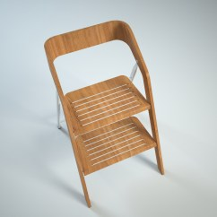 Step 2 Chair Windsor Chairs For Sale Vintage Usit Stepladder Version 3d Model Max