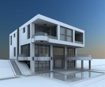 Modern Villa with Balcony