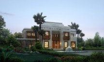 Luxury Villa With Palm Tree 3d Cgtrader