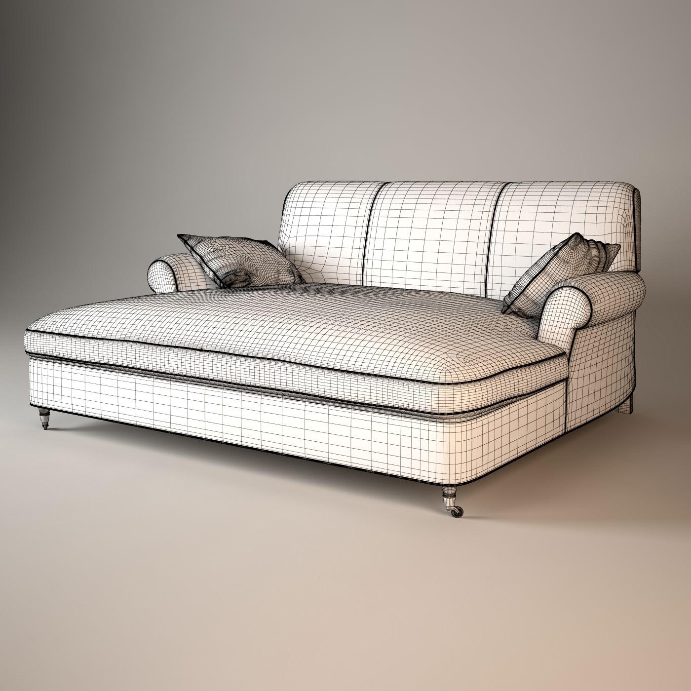 baxter sofa lazy boy sleepers charlotte dormeuse 3d model max obj