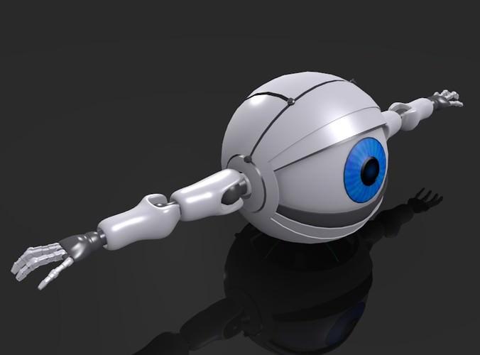 Spherical Robot  Android 3D Model obj blend CGTradercom