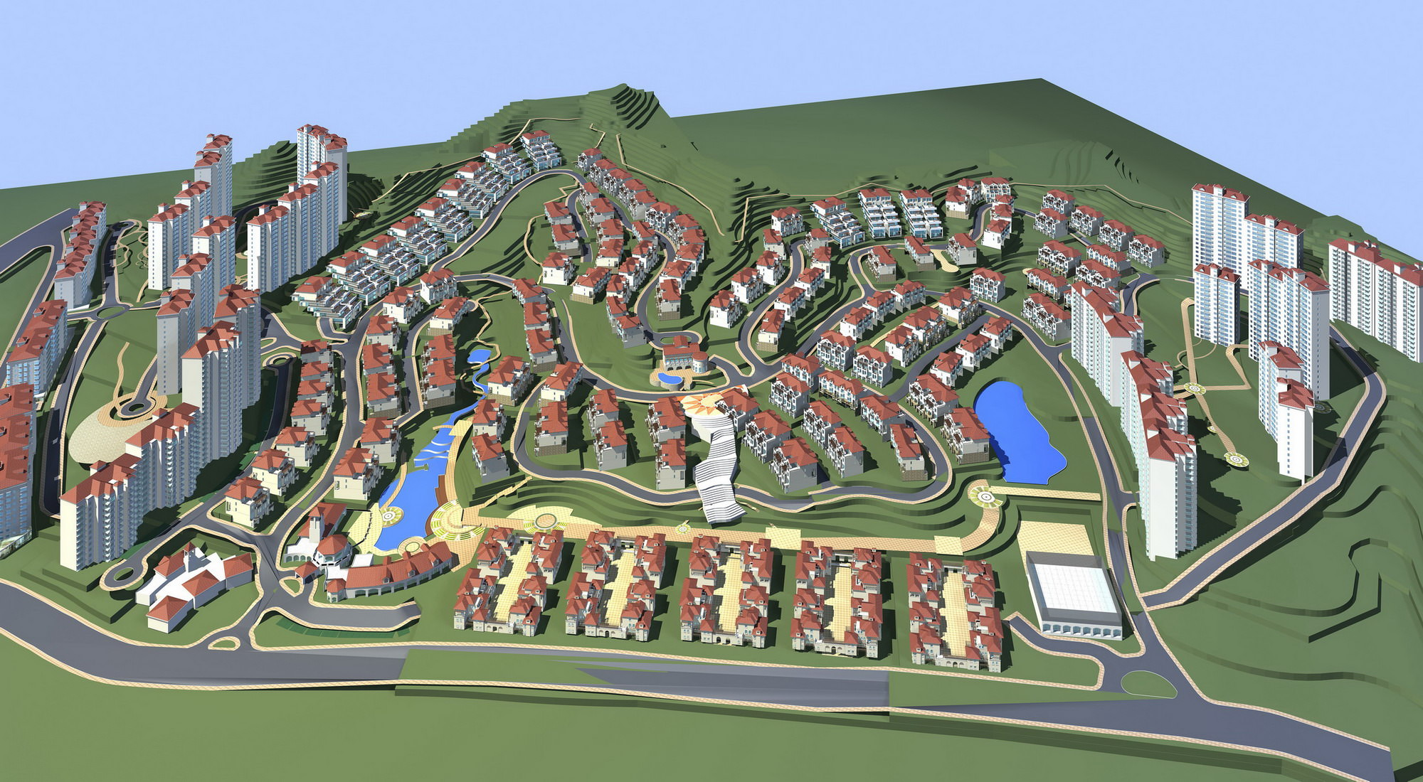 3d model town layout with buildings | cgtrader