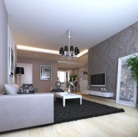 Carpeted Home Living Room with Chandelier 3D model MAX