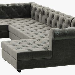 Chesterfield Sofa Modern Jennifer Convertible Sleeper Reviews Rh Modena Leather U Chaise Sectional