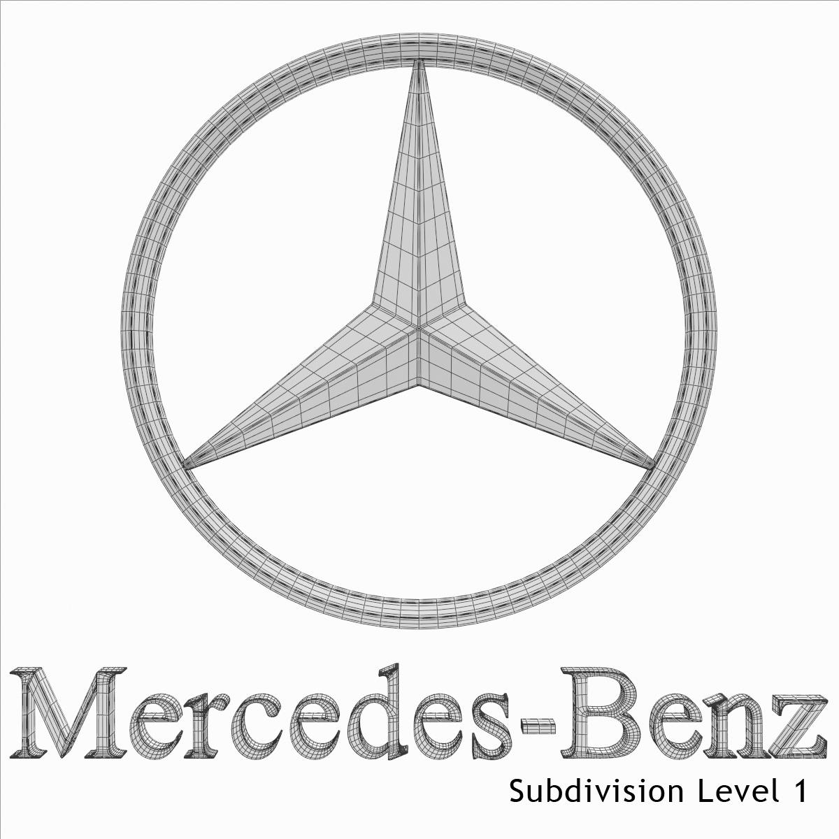 Mercedes Benz Logo 3d Model X Obj 3ds Fbx Dxf L