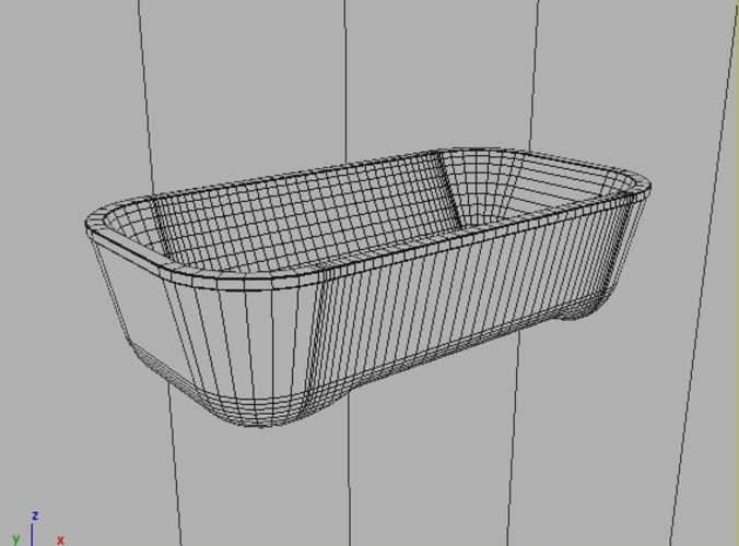 Bathtub Hoesch Andree Putman 3D Model .max .obj .3ds .fbx