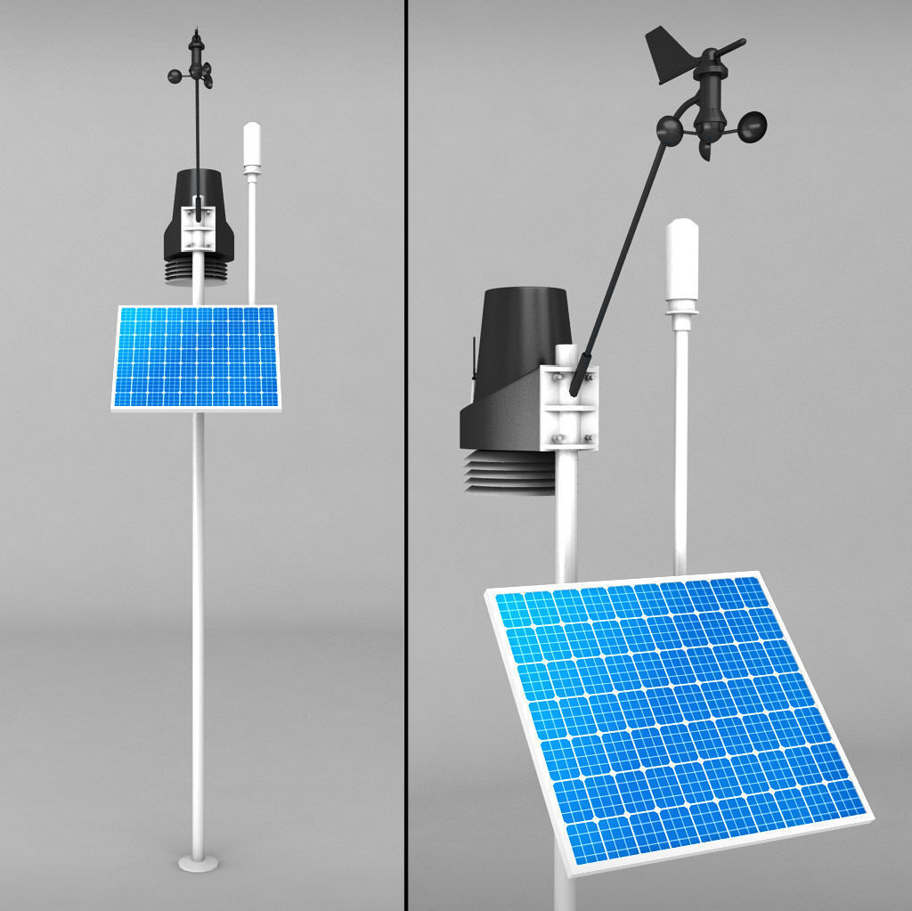 3d Model Weather Meteo Station 2