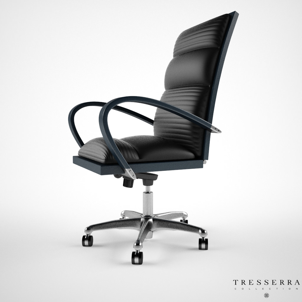 office chair 3d model cane occasional treserra casablanca desk cgtrader