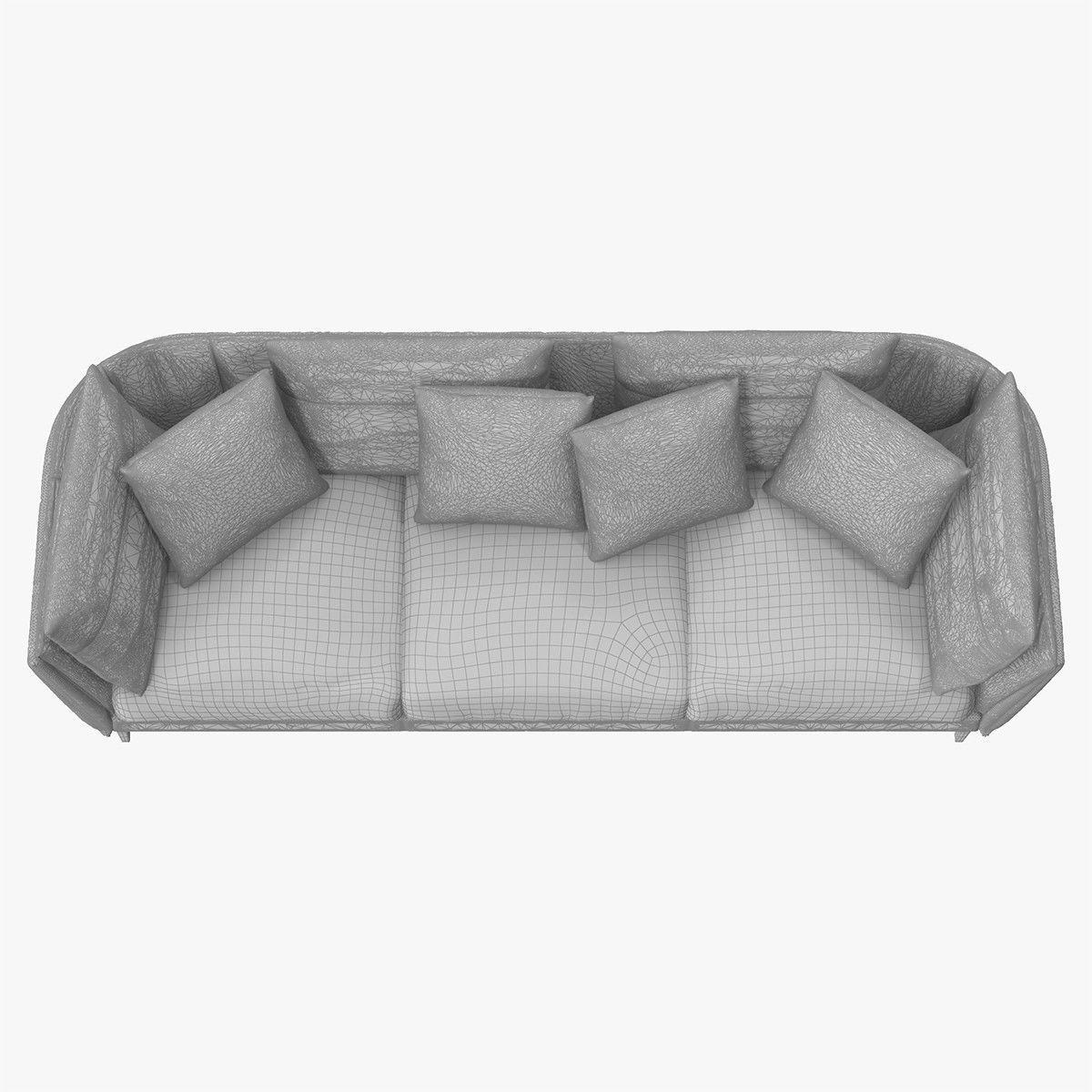 poltrona frau sofa review world market pillows bretagne 3d model max obj fbx mtl cgtrader
