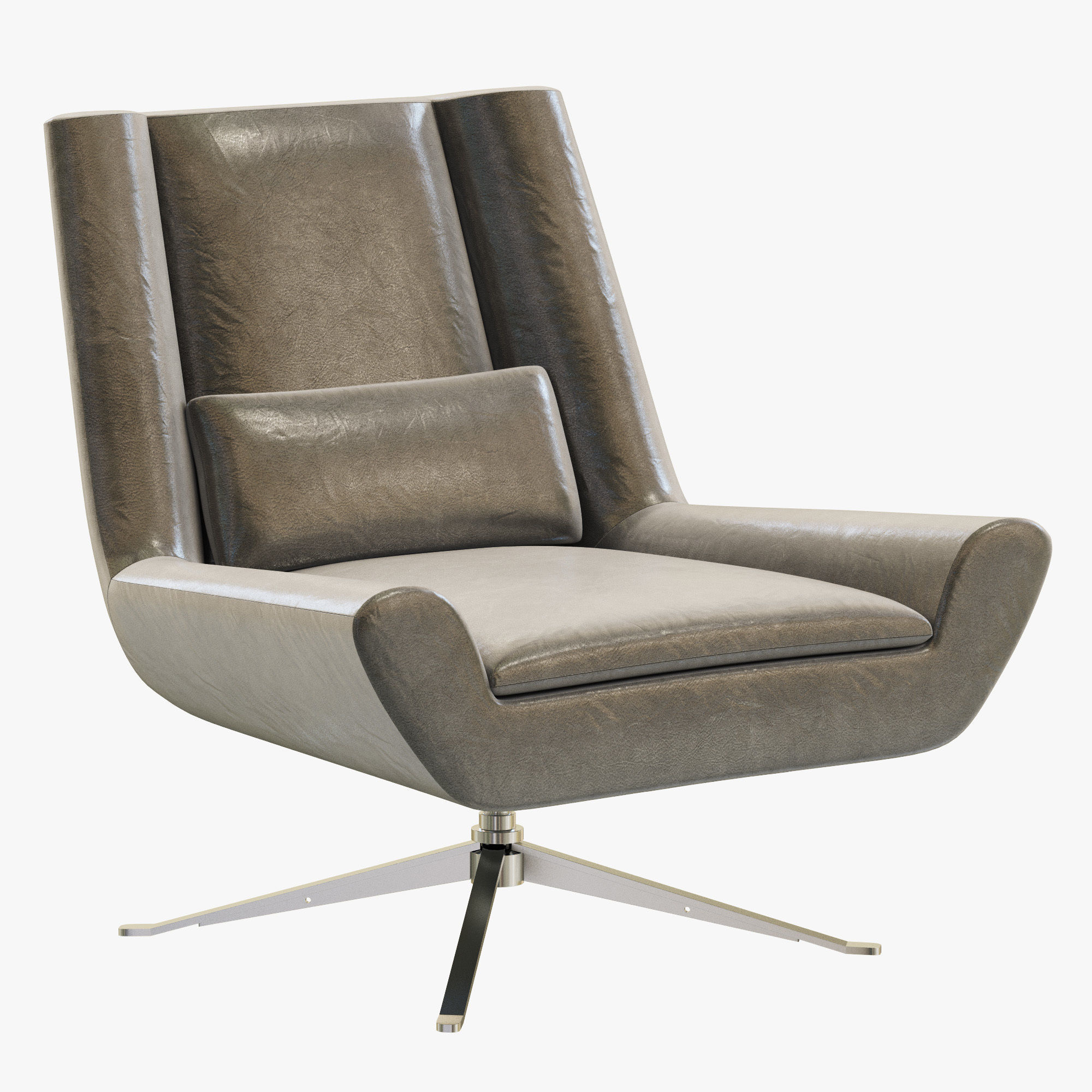 Modern Leather Chairs Rh Modern Luke Leather Chair 3d Model