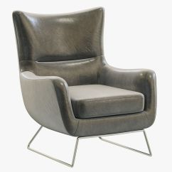Leather Chair Modern Small Wooden Rifton Rh Liam 3d Model Cgtrader