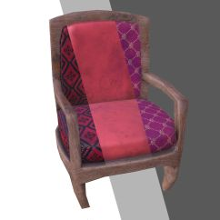 Armchair Pillow Toddler Table And Chair Set 3d Model Low Poly Stool Vr Ar