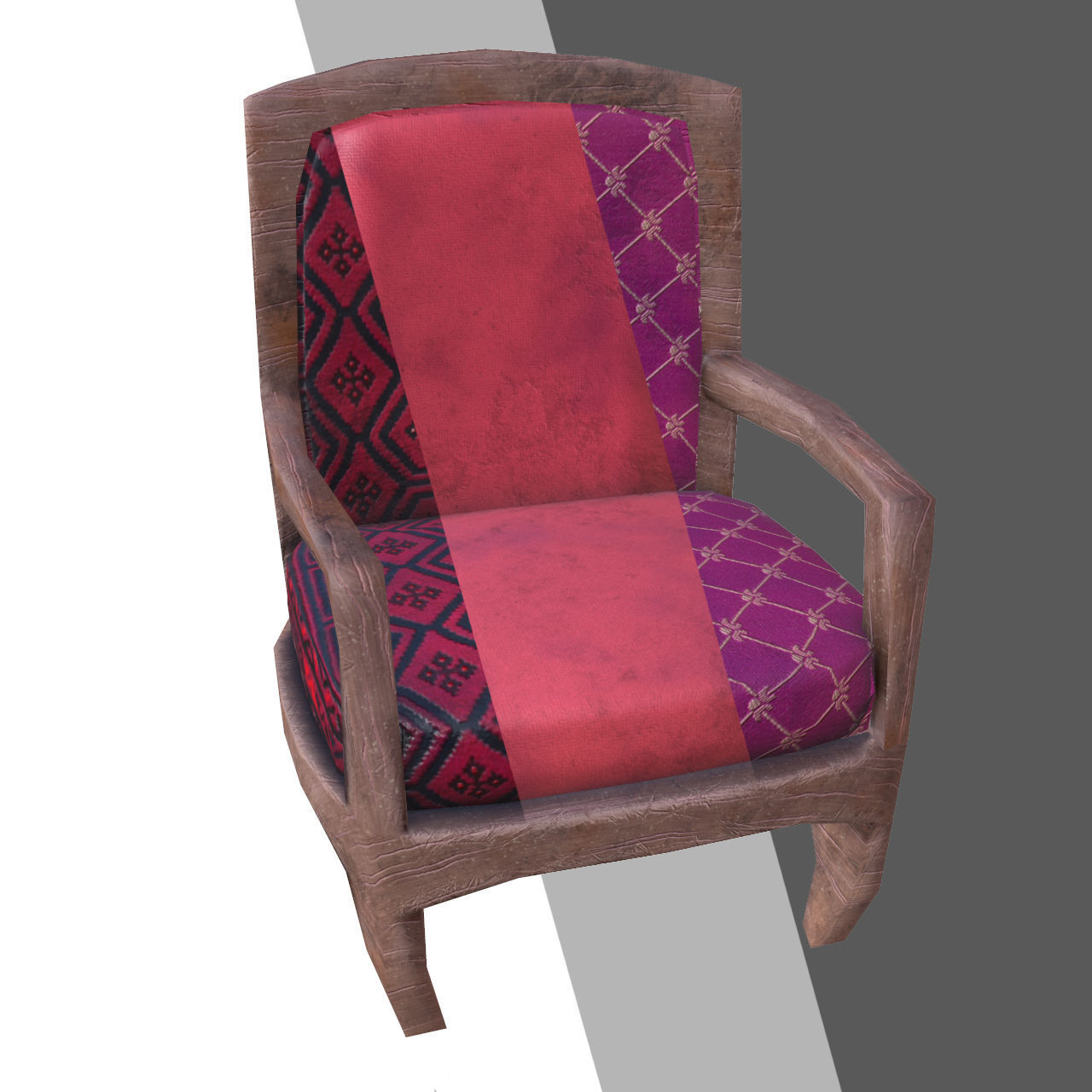 armchair pillow revolving chair manufacturer in delhi 3d model low poly stool vr ar