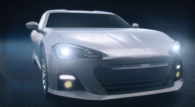 Toyota 86 Sports Car 3D Model CGTrader