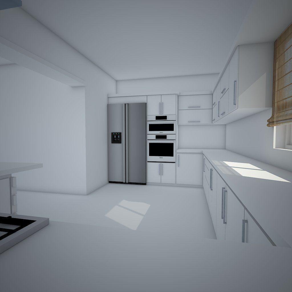 Modern Kitchen Design 3D CGTrader