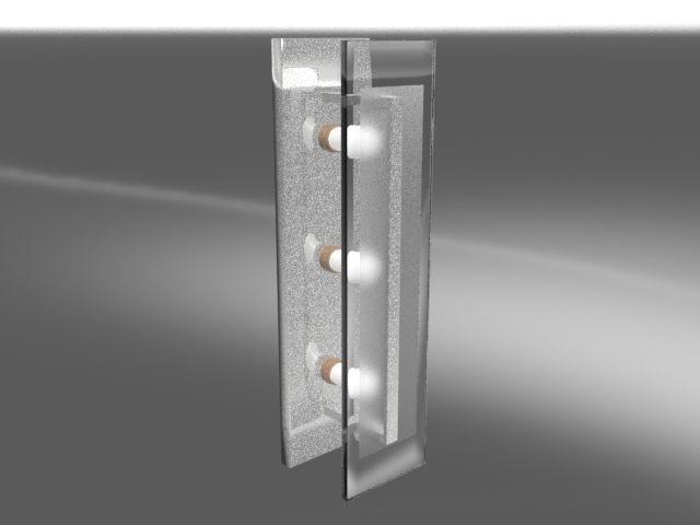 Bathroom Light Vertical 3D  CGTrader
