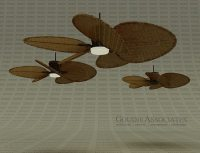 3D model Fan Rattan ceiling good for Cabanas