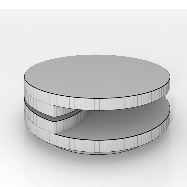 high gloss white modern swivel coffee table 3d model max obj 3ds fbx