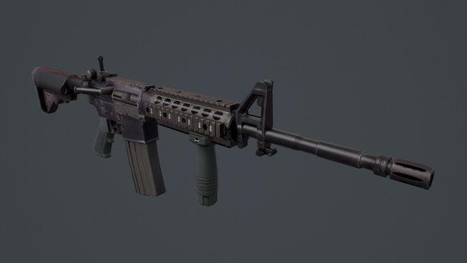 M4 Carbine 3D Asset CGTrader