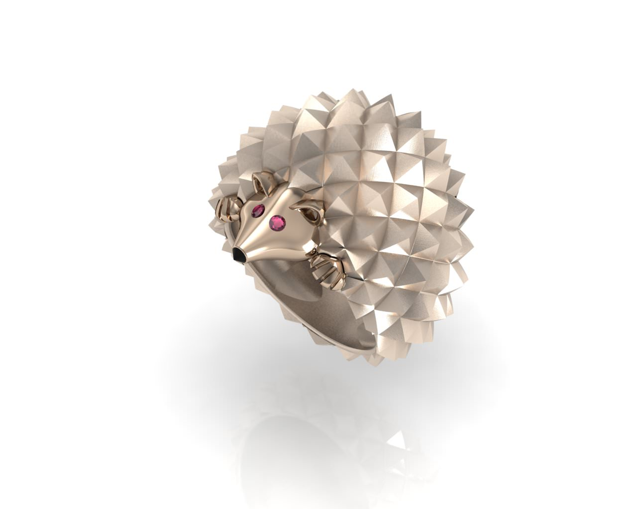 hedgehog Ring Fashion 3D Model 3D printable stl  CGTradercom