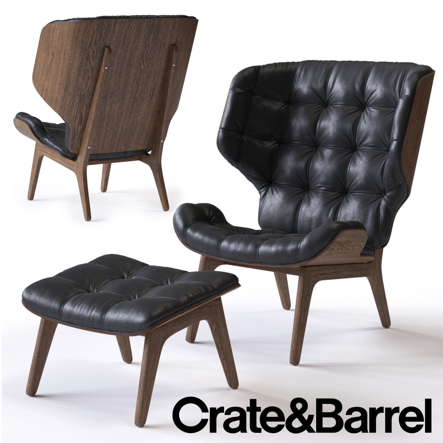 Crate And Barrel Rocking Chair Crate And Barrel Mammoth Armchair 3d Model