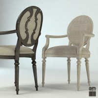 3D Louis XV Vintage Chair | CGTrader