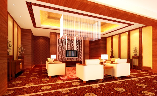 Posh Carpeted Luxury Antechamber 3d Model Max Cgtrader