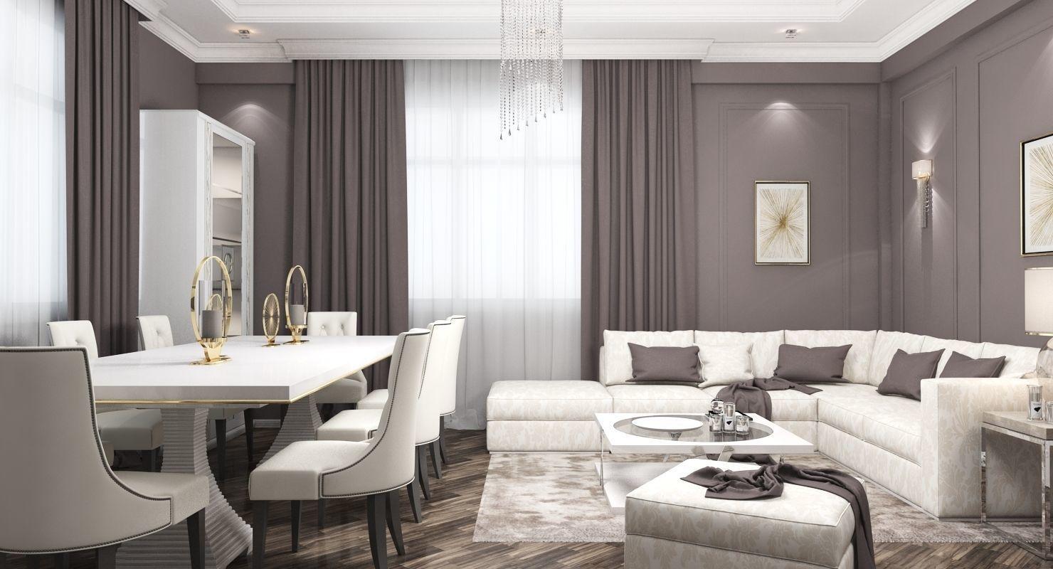 Living Room 3D Model MAX  CGTradercom