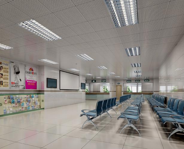 Hospital Lobby with Vogue Interior 3D Model MAX  CGTradercom