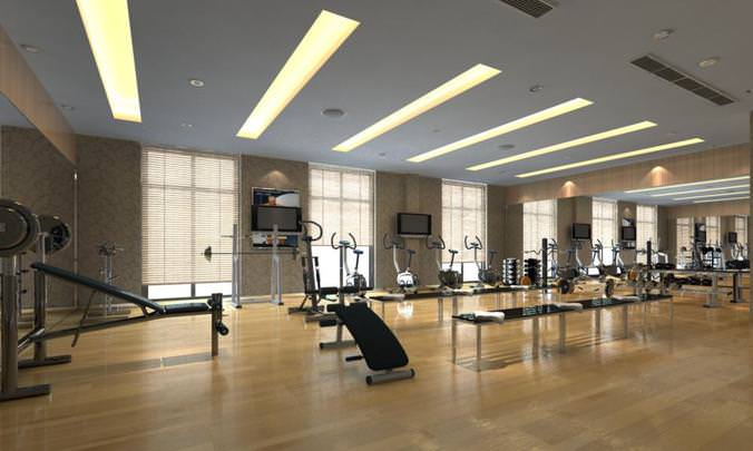 Gym With Instruments 3D CGTrader