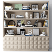 bookshelf decoration 3D | CGTrader