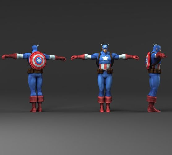 Captain America V2 3D Model CGTrader