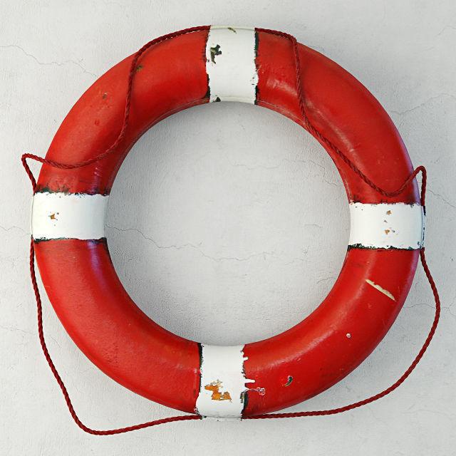 1950s red white nautical