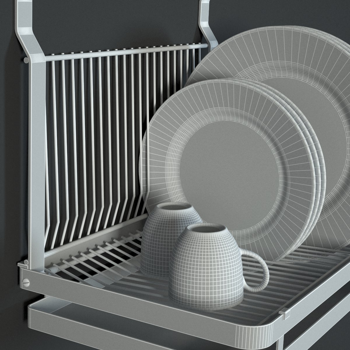 Dish Chair Ikea Grundtal Dish Drainer 3d Models Cgtrader