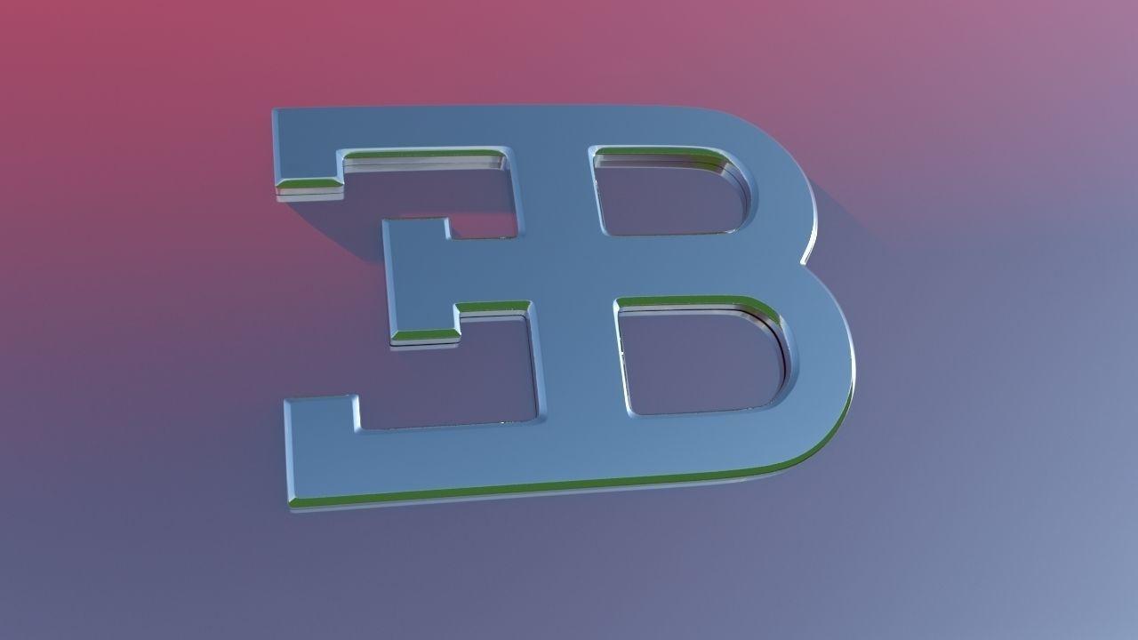 logo bugatti veyron 3d